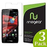 [3-Pack] Motorola RAZR MAXX HD Screen Protector by RinoGear® - Military-Grade w/ Lifetime Warranty - Premium Shield Ultra Clear Quality