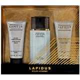 Lapidus Pour Homme by Ted Lapidus Eau de Toilette Spray 100ml, Aftershave Balm 100ml & Hair/Body Shampoo 100ml