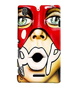 Omnam Pout With Written Pop Printed Designer Back Cover Case For Sony Xperia T3