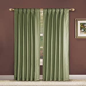 Victoria Classics Manchester Pinch Pleat Panel- 54-Inch By 84-Inch, Sage