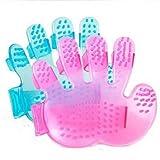 ZGY 2Pcs/Set Hand Shaped Cute Rubber Pet Dog Puppy Cat Grooming Bath Massage Brush Comb Random Color