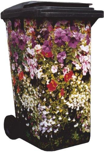 Wheelie Bin Cover Cottage Garden 003