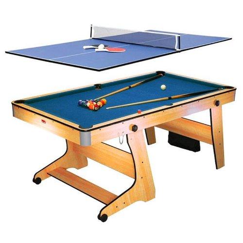 Riley-FP-6TT-2-in-1-Billardtisch-Poolbillardtisch-Tischtennis-Spieltisch-Klappsystem-Bodenrollen-inkl-Spielzubehr-Queues-Kugeln-Blle-Schlger