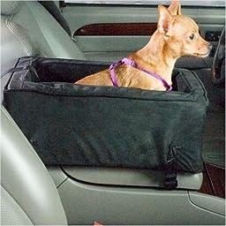 Snoozer Luxury Console Dog Car Seat - Small/Black/Herringbone SN-27587
