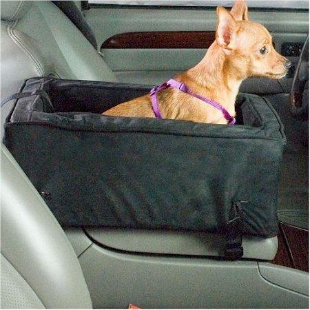 Snoozer Luxury Console Dog Car Seat - Small/Dark Chocolate/Buckskin Sn-27573