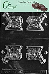 Cybrtrayd E161 3D Standing Lamb Easter Chocolate/Candy Mold
