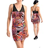 Afboutique Sexy Multi Color Mini Party Dress