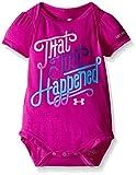 Under Armour Little Girls' That Just Happened Bodysuit, Strobe, 9-12 Months
