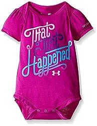 Under Armour Little Girls' That Just Happened Bodysuit, Strobe, 3-6 Months