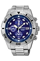 Seiko SNDD97P1 Chronograph Blue Dial Stainless Steel Mens Watch