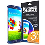 Invisible Defender - Samsung Galaxy S4 IV S IV i9500 Screen Protector with [3 PACK/Lifetime Replacement Warranty] The Worlds Best Selling Premium EXTREME CLEAR Screen Protector for Galaxy S4 i9500 2013 Model (AT&T, T-Mobile, Sprint, Verizon)