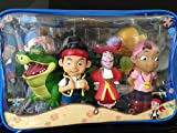 Disney Jake and the Never Land Pirates Figure Set Bath Pool Toys with an Exclusive 8 inch long Tick Tock Crocodile!