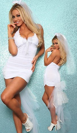 3WISHES 'Vegas Bride Costume' Sexy Bridal Gown Costumes