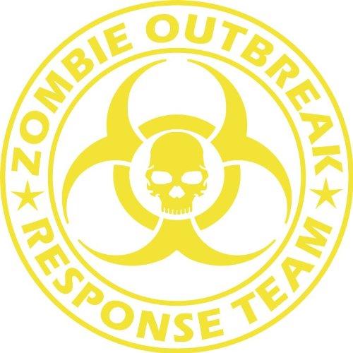 Large Zombie Outbreak Response Team NEW DESIGN Die Cut Vinyl Decal Sticker 9 Yellow