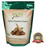 Herbs India - Cinnamon (Ceylon) Powder 16 Oz 1lb. 100% USDA Certified Organic.