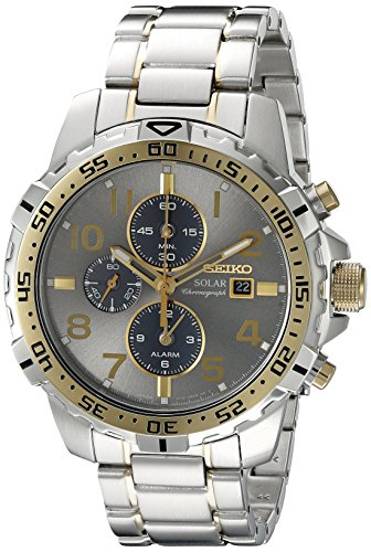 Seiko Men's SSC304 Analog Display Analog Quartz Two Tone Watch