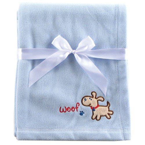 Luvable Friends Fleece Receiving Blanket, Blue