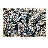 1art1 40038 Poster Jackson Pollock Gris sur Noir 91 x 61 cm