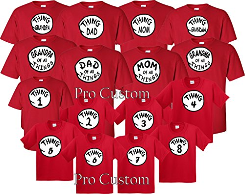 Custom Thing 1 Thing 2 Matching T-Shirts (XL Adult, Thing Mom) (Custom Shirts For Men compare prices)