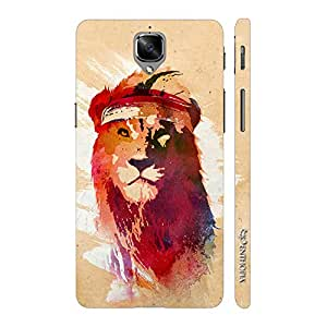Enthopia Designer Hardshell Case Rapper Simba Back Cover for One Plus 3, One Plus 3T