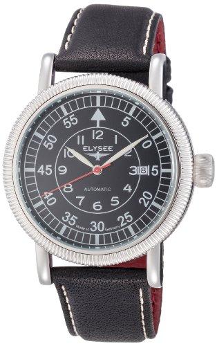 Elysee 17001 - Reloj de pulsera hombre, piel, color negro