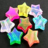 30 pieces Acrylic 10x10x4mm Star Beads - AB Colours Mixed A5164