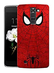 "Crawling Spider Web Printed Designer Mobile Back Cover For ""LG K10"" By Humor Gang (3D, Matte Finish, Premium Quality, Protective Snap On Slim Hard Phone Case, Multi Color)"