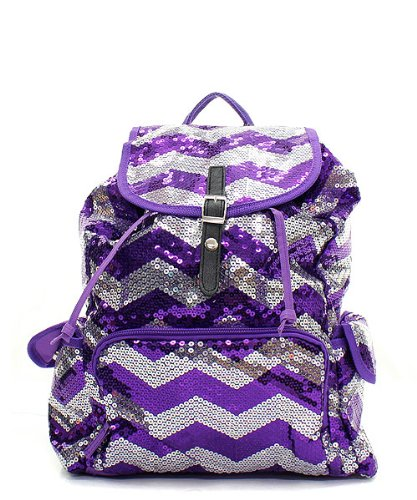 Chevron Sequin Backpack Pp