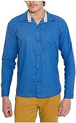 Oshano Men's Casual Shirt (OSH_027_xl, Blue, xl)