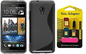 Super Saver Combo Offer Buy Wellmart Back Case Cover For HTC Desire 620G dual sim And Get Free Metal Sim Card Adapter