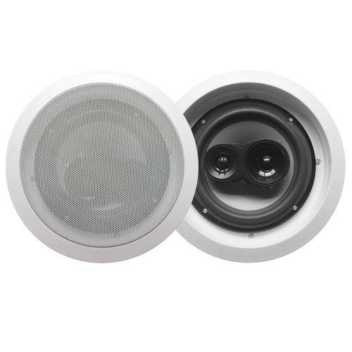 """Acoustic Audio Cs-Ic83-Pr 350 Watt 8"""" 3-Way Home Theater In-Wall/Ceiling Speakers (Pair)"""