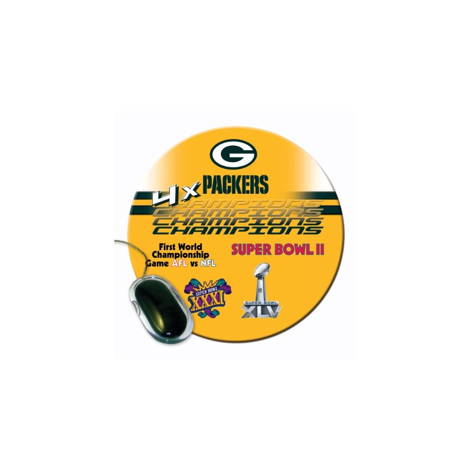 10f2fc9f84d1e NFL Green Bay Packers 4X Super Bowl Champion Mouse Pad on PopScreen