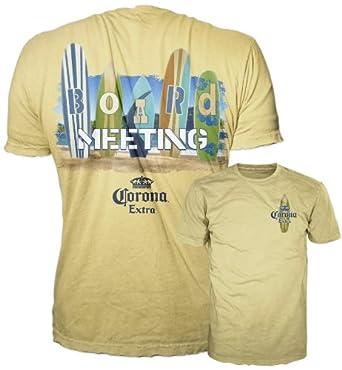 Bioworld Corona Extra Board Meeting Yellow Men's T-Shirt (742) XX