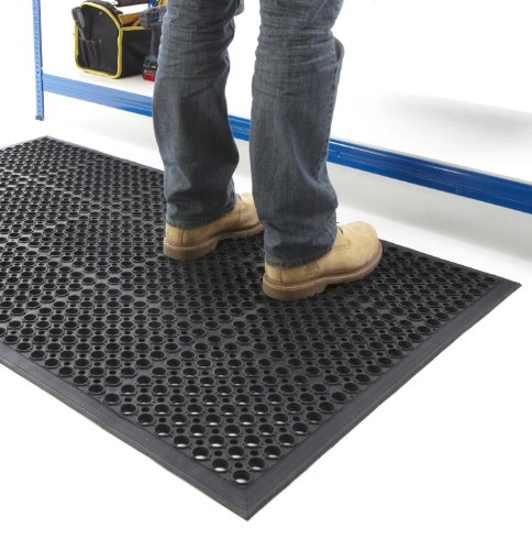 Non-Slip Anti-Fatigue Mat 800mm Deep x 1200mm Wide x 13mm Thick