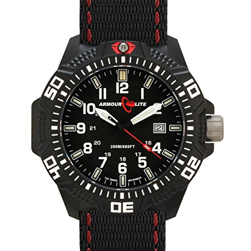Armourlite Caliber Series Black Dial Watch with Tritium Illumination and Sapphire Crystal AL603 (Tactical Dial compare prices)