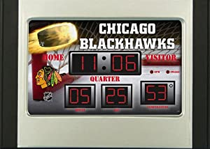 Buy Team Sports America Chicago Blackhawks Scoreboard Style Desk Clock & Thermometer by Team Sports America