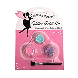 Glitter Kit By FairyTale Boutique Cosmetic GLITTER 50% OFF with brush (Purple Pink Blue)