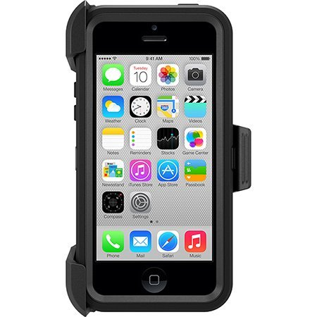 Otterbox Defender Series Case With Holster Clip For Iphone 5C Only - Retail Packaging (Black)