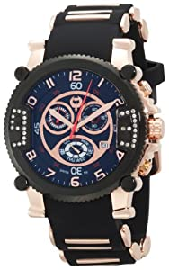 Brillier Men's 02.3.1.1.11.11 Grand Master Tourer Black IP Black Rubber Watch by Brillier