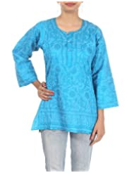 Rajrang Indian Partywear Embroidered Kurti Tunic Womens Top Size L