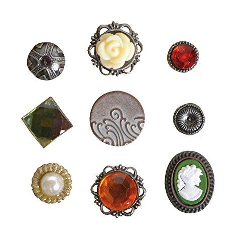 Artemio 9 piezas Juego de encuadernadores Oldies joyas, rojo