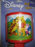 Disney Winnie the Pooh & Friends Night Light with RED Trim