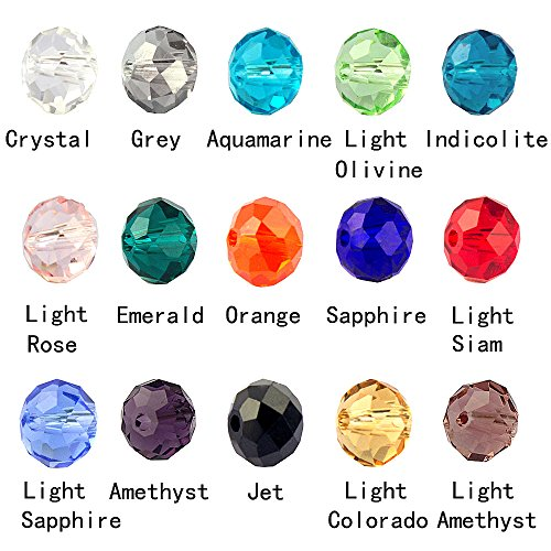 LolliBeads (TM) Wholesale Mix Lot 10 mm Briolette Faceted Rondelle Crystal Glass Beads For Jewelry Making with Container Box (300 pcs) (Crystal Beads 10mm compare prices)