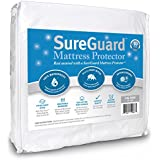 California King SureGuard Mattress Protector - 100% Waterproof - Hypoallergenic - Breathable Soft Cotton Terry Cover - Blocks Dust Mites, Allergens, Mildew & Mold - Superior Quality - 30 Day Return Guarantee - 10 Year Warranty