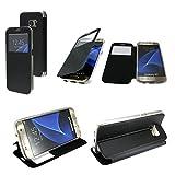 Energmix® Flip-Cover Tasche Hülle mit Sichtfenster für