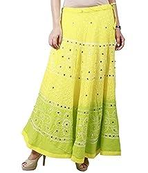 Haniya Women's Skirt (H_50_Yellow _Free Size)