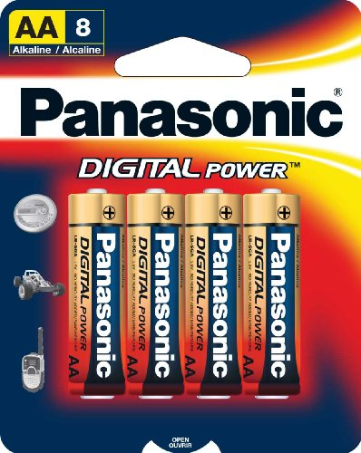 Panasonic Digital Power AA Alkaline Batteries - 8 Pack