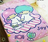 Sanrio Little Twin Stars Pink Colored Adorable Fuzzy Blanket