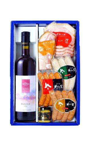 カーブドッチ 赤ワイン&薪小屋ハム・ソーセージセット