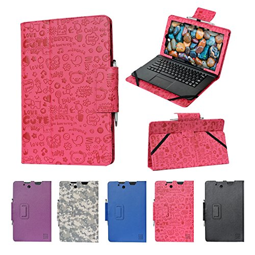 "RCA 11 Maven Pro case, i-UniK CASE for RCA 11 Maven Pro 11.6"" (RCT6213W87DK) Detachable Touchscreen 2 in 1 Tablet PC [Bonus Stylus] - (Cute Pink)"